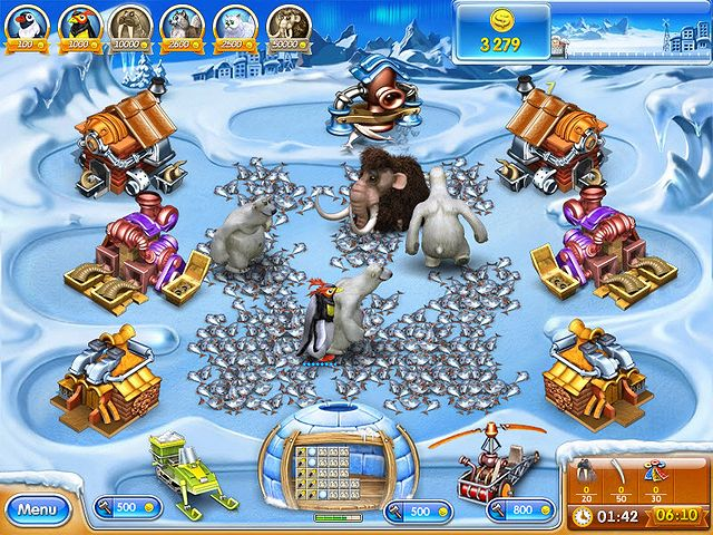 Screenshot jogo  «Farm Frenzy 3: Ice Age» № 1